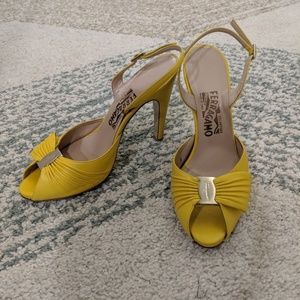 Salvatore Ferragamo yellow heels